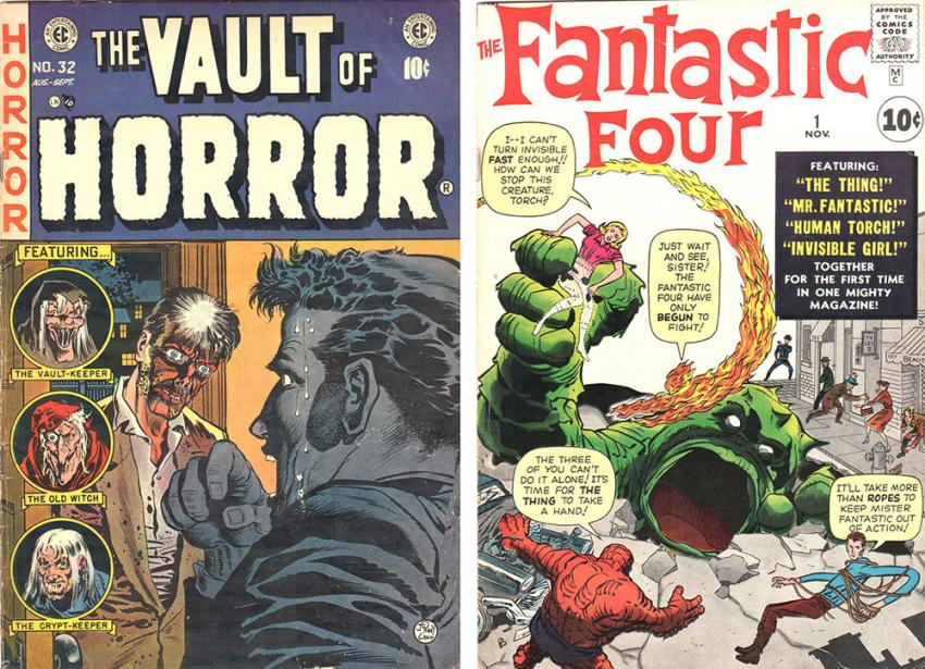 Vault of Horror and The Fantastic Four
