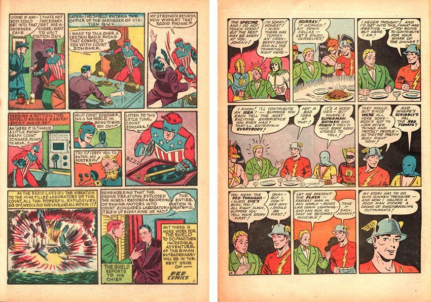 Pep Comics #3 and All-Star Comics #3