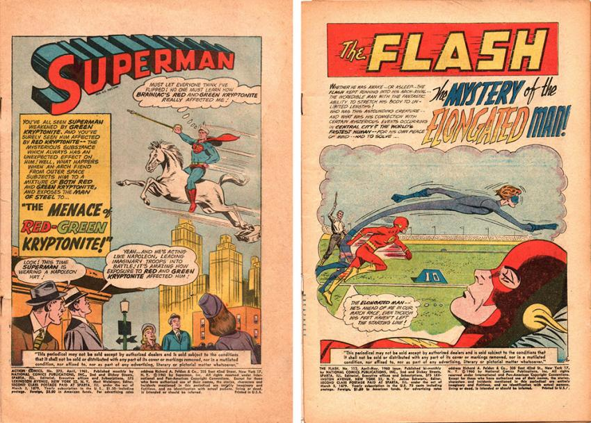 Action Comics #275 and The Flash #112