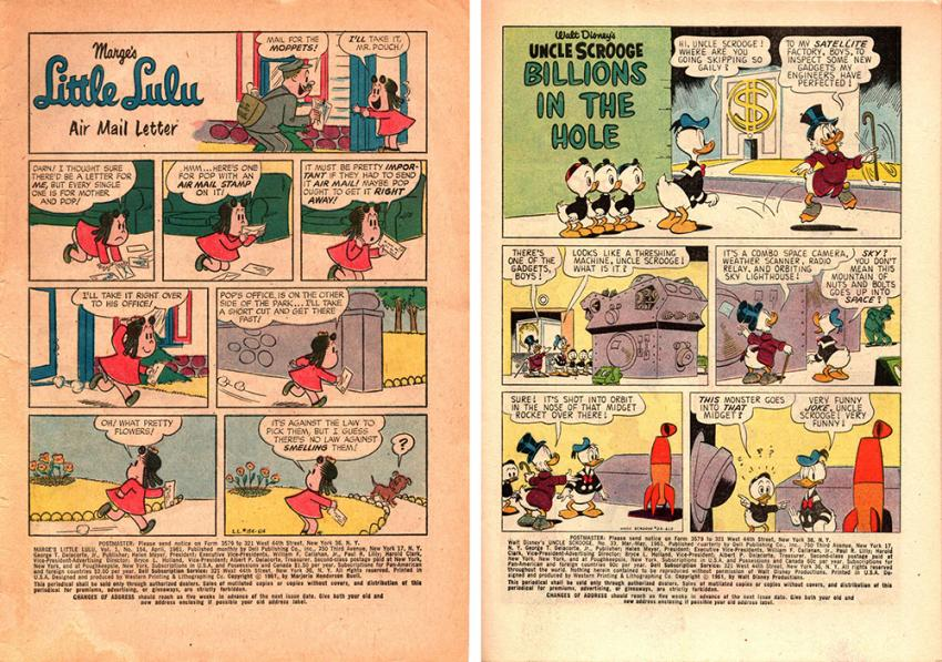 Little Lulu #154 and Uncle Scrooge #33