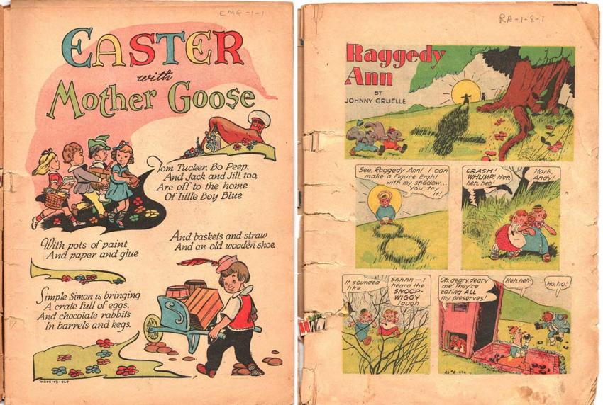 Easter with Mother Goose anbd Raggedy Ann + Andy