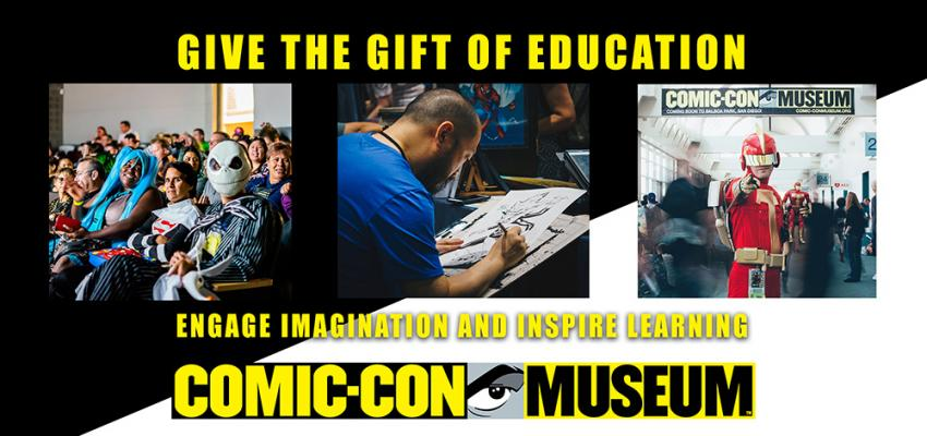 Comic-Con Museum Giving Tuesday Campaign