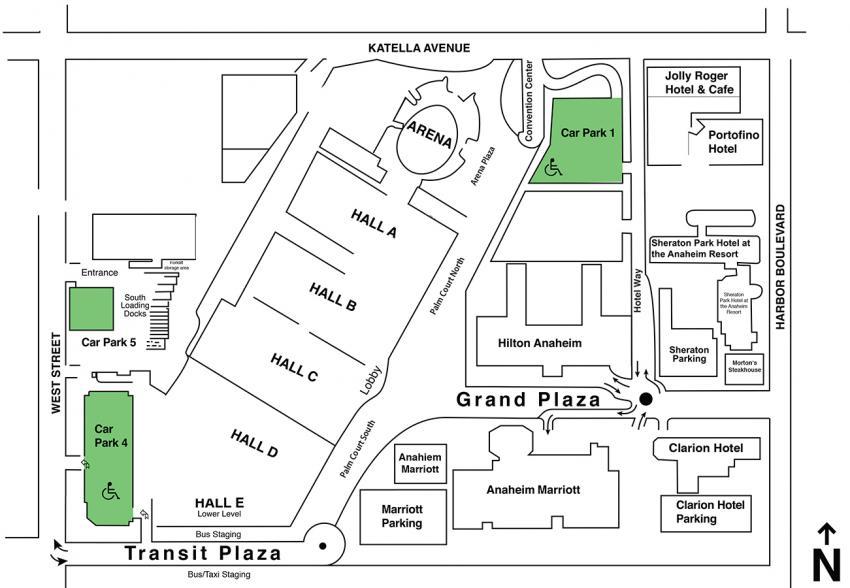 WonderCon Anaheim 2018 Parking Map