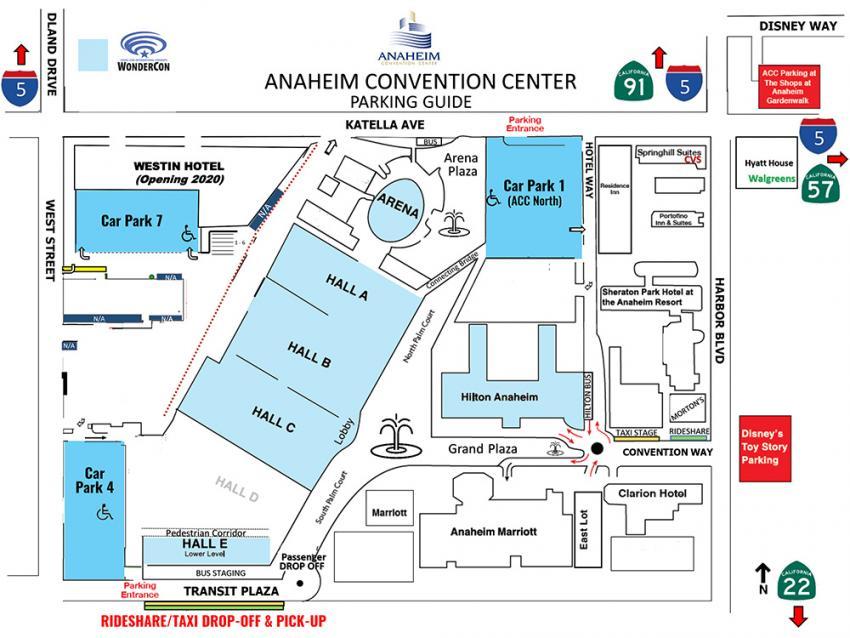 WonderCon Anaheim 2019 Parking