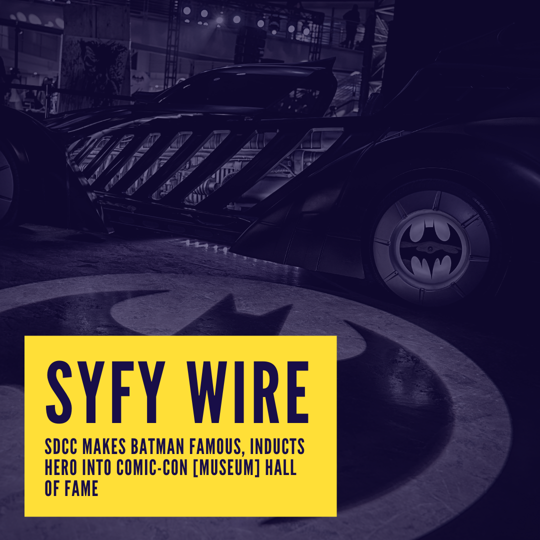 Icon for SYFY Wire - SDCC makes Batman famous, inducts hero into Comic-Con [Museum] Hall of Fame